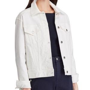 Unisex, Ralph Lauren XL, White Denim Jacket, EUC